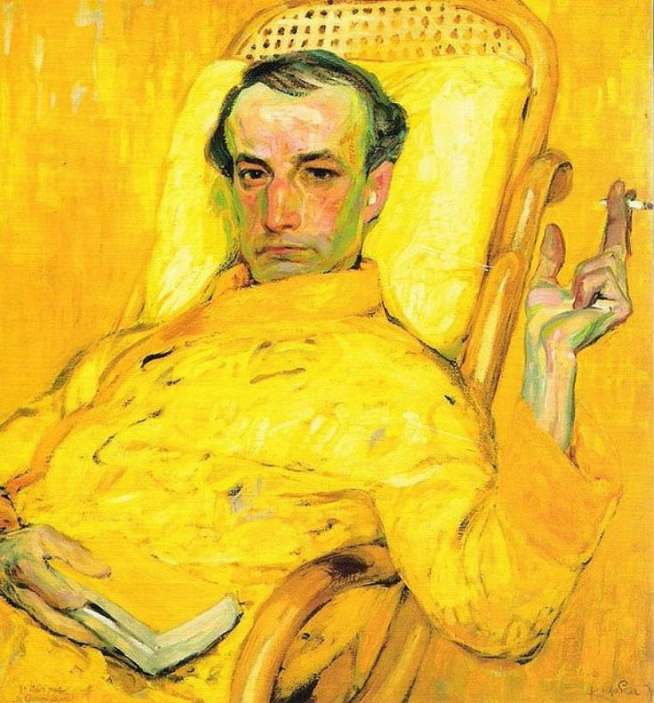 Retrato de Charles Baudelaire. Frantisek Kupka, 1905