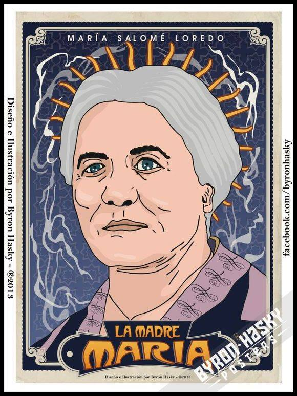 """Serie """"Santos Criollos """" 2013 - María Salome Loredo, La Madre María"""