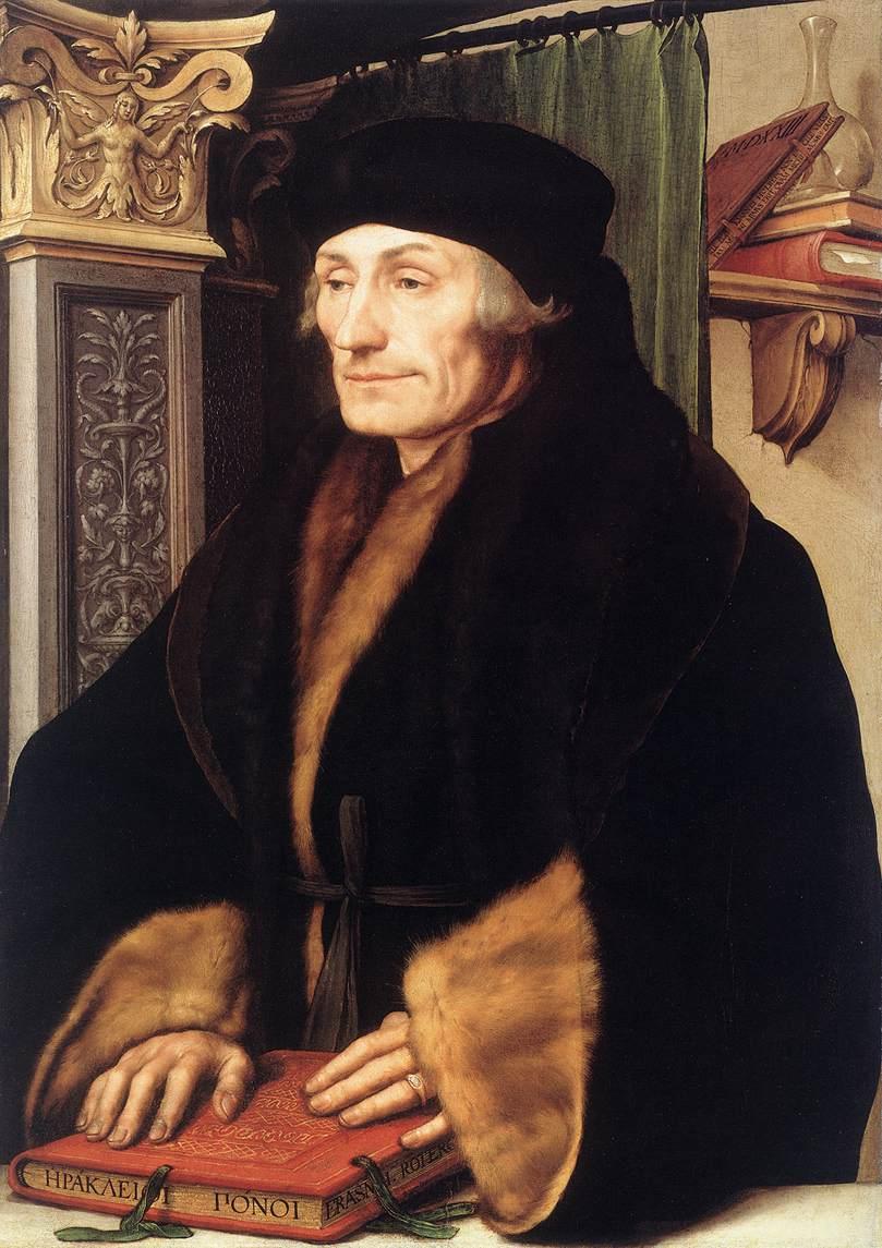 Retrato de Erasmo de Rotterdam, por Hans Holbein (1523)