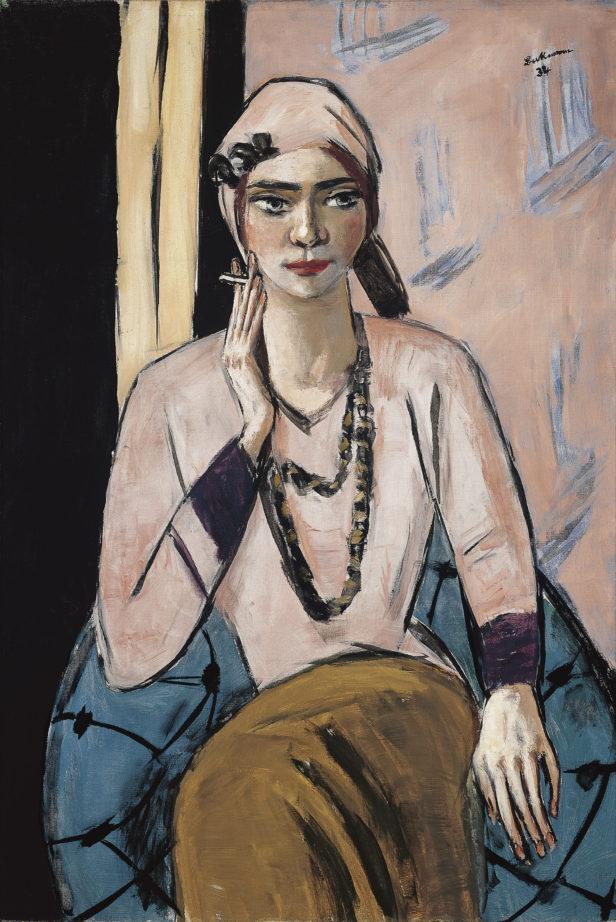 """Quappi con suéter rosa"" (1934) de Max Beckmann"
